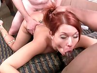 Sexy slut Holly Berry gets gangbanged by black studs