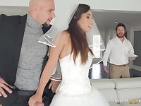 crazy and wild bride Kelsi Monroe enjoys hardcore fuck with a stranger