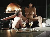 busty milf spreads wide for a big and juicy cock