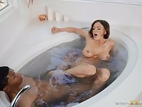 Lil D gets her pussy pounded by her horny boyfriend in the bath