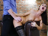only monster's massive penis can satisfy horny girl Vicky Love