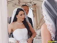Whitney Wright chokes on a black dick before her wedding