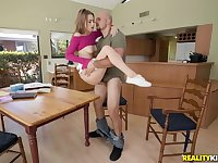 Jill Kassidy fucked in her panties and a mini skirt