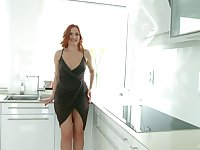 Ginger curvy milf Eva Berger gets her anal hole fucked and creampied