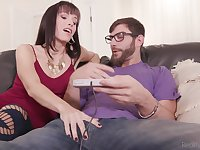 Two lustful housewives swap their stepsons and enjoy their hard big cocks