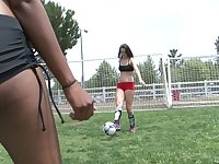 Interracial girl on girl compilation featuring Jodie Taylor